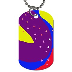 Optimistic Abstraction Dog Tag (two Sides)