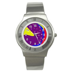Optimistic Abstraction Stainless Steel Watch by Valentinaart