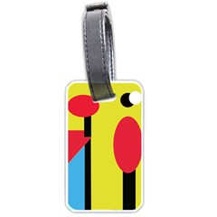 Abstract Landscape Luggage Tags (two Sides) by Valentinaart
