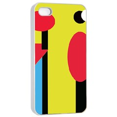 Abstract Landscape Apple Iphone 4/4s Seamless Case (white)