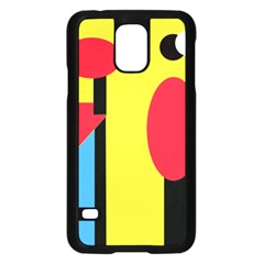 Abstract Landscape Samsung Galaxy S5 Case (black) by Valentinaart