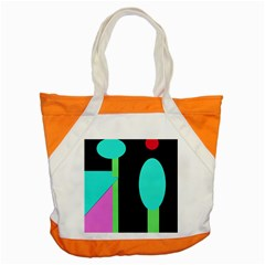Abstract Landscape Accent Tote Bag by Valentinaart