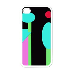 Abstract Landscape Apple Iphone 4 Case (white) by Valentinaart