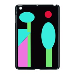 Abstract Landscape Apple Ipad Mini Case (black) by Valentinaart