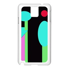 Abstract Landscape Samsung Galaxy Note 3 N9005 Case (white) by Valentinaart