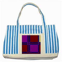 Deorative Design Striped Blue Tote Bag by Valentinaart