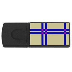 Elegant Lines Usb Flash Drive Rectangular (4 Gb)  by Valentinaart