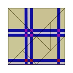 Elegant Lines Acrylic Tangram Puzzle (6  X 6 ) by Valentinaart