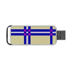Elegant Lines Portable Usb Flash (two Sides) by Valentinaart