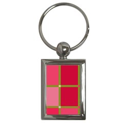 Red And Green Key Chains (rectangle)  by Valentinaart