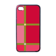 Red And Green Apple Iphone 4 Case (black) by Valentinaart