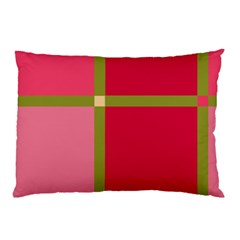 Red And Green Pillow Case (two Sides)
