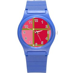 Red And Green Round Plastic Sport Watch (s) by Valentinaart