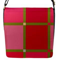 Red And Green Flap Messenger Bag (s)