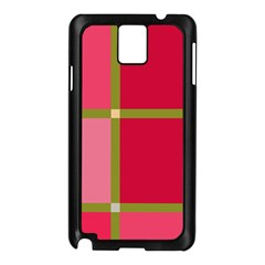 Red And Green Samsung Galaxy Note 3 N9005 Case (black) by Valentinaart