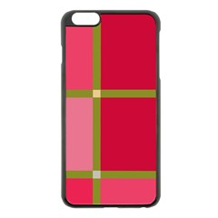 Red And Green Apple Iphone 6 Plus/6s Plus Black Enamel Case by Valentinaart