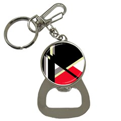Red And Black Abstraction Bottle Opener Key Chains by Valentinaart