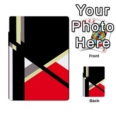 Red And Black Abstraction Multi Purpose Cards (rectangle)  by Valentinaart