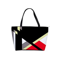 Red And Black Abstraction Shoulder Handbags by Valentinaart