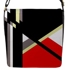 Red And Black Abstraction Flap Messenger Bag (s)