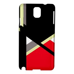 Red And Black Abstraction Samsung Galaxy Note 3 N9005 Hardshell Case by Valentinaart