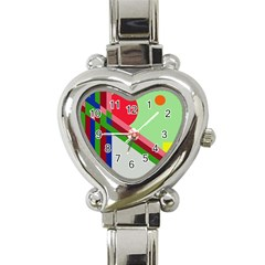 Decorative Abstraction Heart Italian Charm Watch by Valentinaart