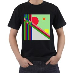 Decorative Abstraction Men s T Shirt (black) by Valentinaart