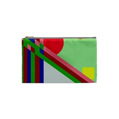 Decorative Abstraction Cosmetic Bag (small)  by Valentinaart