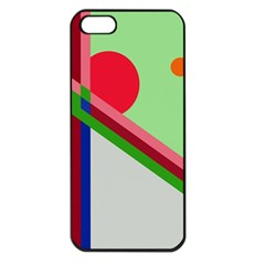 Decorative Abstraction Apple Iphone 5 Seamless Case (black) by Valentinaart