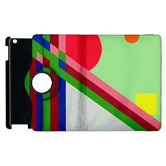 Decorative Abstraction Apple Ipad 3/4 Flip 360 Case by Valentinaart