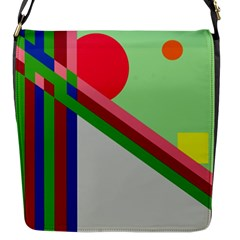 Decorative Abstraction Flap Messenger Bag (s) by Valentinaart