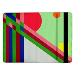 Decorative Abstraction Samsung Galaxy Tab Pro 12 2  Flip Case by Valentinaart
