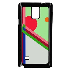 Decorative Abstraction Samsung Galaxy Note 4 Case (black) by Valentinaart