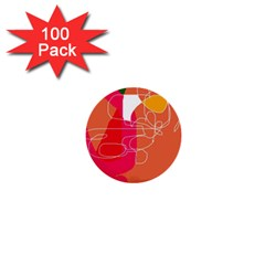 Orange Abstraction 1  Mini Buttons (100 Pack)  by Valentinaart