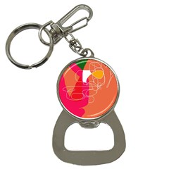 Orange Abstraction Bottle Opener Key Chains by Valentinaart
