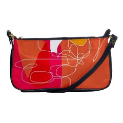 Orange Abstraction Shoulder Clutch Bags by Valentinaart
