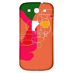 Orange Abstraction Samsung Galaxy S3 S Iii Classic Hardshell Back Case by Valentinaart