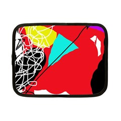 Colorful Abstraction Netbook Case (small)  by Valentinaart