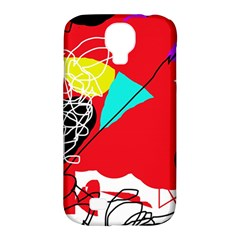 Colorful Abstraction Samsung Galaxy S4 Classic Hardshell Case (pc+silicone) by Valentinaart