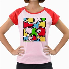 Colorful Abtraction Women s Cap Sleeve T Shirt by Valentinaart