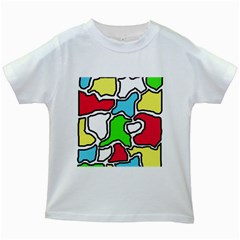 Colorful Abtraction Kids White T Shirts by Valentinaart