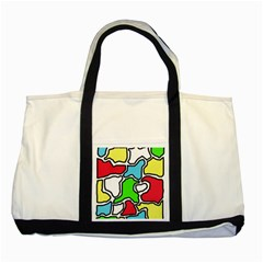 Colorful Abtraction Two Tone Tote Bag by Valentinaart