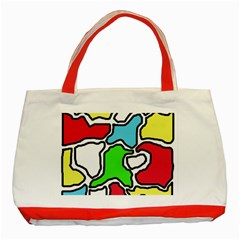 Colorful Abtraction Classic Tote Bag (red) by Valentinaart