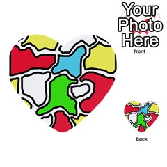Colorful Abtraction Multi Purpose Cards (heart)