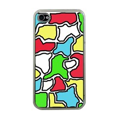 Colorful Abtraction Apple Iphone 4 Case (clear) by Valentinaart