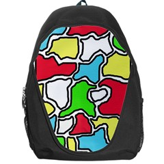Colorful Abtraction Backpack Bag by Valentinaart