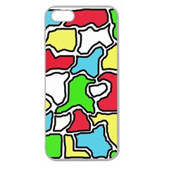 Colorful Abtraction Apple Seamless Iphone 5 Case (clear) by Valentinaart