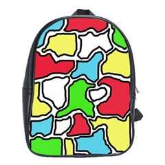 Colorful Abtraction School Bags (xl)  by Valentinaart