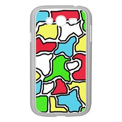 Colorful Abtraction Samsung Galaxy Grand Duos I9082 Case (white) by Valentinaart