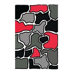 Black, Gray And Red Abstraction Shower Curtain 48  X 72  (small)  by Valentinaart